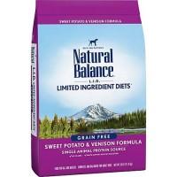 Natural Balance L.I.D. Limited Ingredient Diets Sweet Potato & Venison Grain Free Dog Food, 26 lbs.
