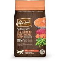 Merrick Grain Free Real Salmon + Sweet Potato Dry Dog Food, 25 lbs.