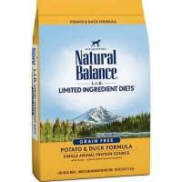 Natural Balance L.I.D. Limited Ingredient Diets Grain-Free Potato & Duck Formula Dry Dog Food, 26 lbs.