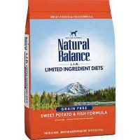 Natural Balance L.I.D. Limited Ingredient Diets Sweet Potato & Fish Dog Food, 26 lbs.