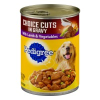 Pedigree Choice Cuts in Gravy Dog Food with Lamb & Vegetables