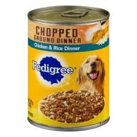 Pedigree Dog Food Chopped Ground Dinner Chicken & Rice