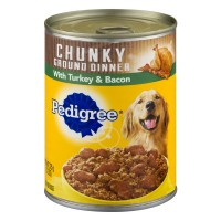 Pedigree Dog Food Chunky Ground Dinner with Turkey & Bacon