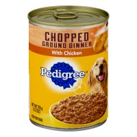 Pedigree Dog Food Meaty Ground Dinner with Chopped Chicken