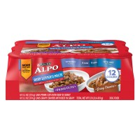 Purina ALPO Dog Food Beef Lover's Pack Prime Cuts & Gravy Cravers - 12 ct