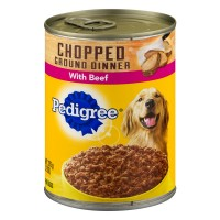 Pedigree Dog Food Chopped Ground Dinner with Beef