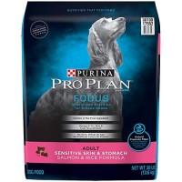 Purina Pro Plan Focus Sensitive Skin & Stomach Salmon & Rice Formula Adult Dry Dog Food, 30 lbs.
