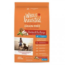 WholeHearted Grain Free Large Breed Adult Chicken and Pea Recipe Dry Dog Food, 25 lbs.