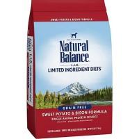 Natural Balance L.I.D. Limited Ingredient Diets Sweet Potato & Bison Dog Food, 26 lbs.