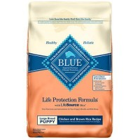 Blue Buffalo Blue Life Protection Formula Puppy Large Breed Chicken & Brown Rice Recipe Dry Dog Food, 30 lbs.