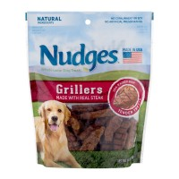 Nudges Grillers Dog Tender Treats USA-Raised Beef Natural