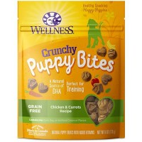 Wellness Natural Grain Free Crunchy Chicken & Carrots Recipe Puppy Bites Dog Treats, 6 oz
