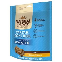 NUTRO NATURAL CHOICE Chicken & Whole Brown Rice Recipe Adult Dog Tartar Control Biscuits, 32 oz. Bag