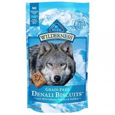 Blue Buffalo Blue Wilderness Denali Biscuits with Wild Salmon Venison & Halibut Grain-Free Natural Crunchy Dog Treats, 8 oz.
