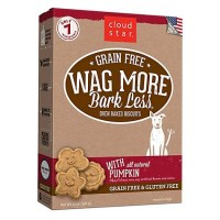 Cloud Star Wag More Bark Less Oven Baked Grain Free Pumpkin Dog Treats, 14 oz.