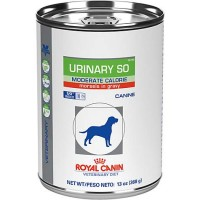 Royal Canin Veterinary Diet Urinary SO Moderate Calorie Morsels In Gravy Canned Dog Food, 13 oz., Case of 24