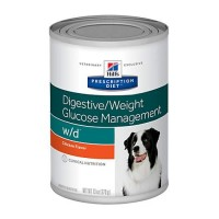Hill's Prescription Diet w/d Digestive/Weight/Glucose Management with Chicken Canned Dog Food, 13 oz., Case of 12