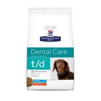 Hill's Prescription Diet t/d Dental Care Small Bites Chicken Flavor Dry Dog Food, 5 lbs., Bag