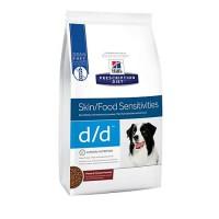 Hill's Prescription Diet d/d Skin/Food Sensitivities Potato & Venison Formula Dry Dog Food, 17.6 lbs., Bag