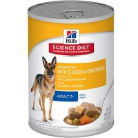 Hill's Science Diet Savory Stew with Chicken & Vegetables Mature Adult Canned Wet Dog Food, 12.8 oz., Case of 12
