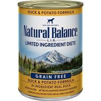 Natural Balance L.I.D. Limited Ingredient Diets Duck & Potato Formula Wet Dog Food, 13.2 oz., Case of 12