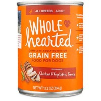 WholeHearted Grain Free Adult Chicken and Vegetable Recipe Wet Dog Food, 13.2 oz., Case of 12