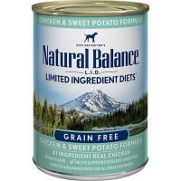 Natural Balance L.I.D. Limited Ingredient Diets Chicken & Sweet Potato Formula Wet Dog Food, 13 oz., Case of 12