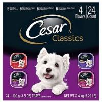 CESAR Canine Cuisine Club Variety Pack Dog Food Trays, 3.5 oz., Case of 24