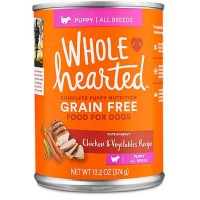 WholeHearted Grain Free Puppy Chicken and Vegetable Recipe Wet Dog Food, 13.2 oz., Case of 12