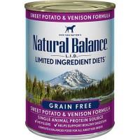 Natural Balance L.I.D. Limited Ingredient Diets Sweet Potato & Venison Formula Canned Dog Food, 13 oz., Case of 12