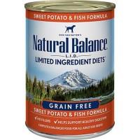 Natural Balance L.I.D. Limited Ingredient Diets Sweet Potatoes & Fish Wet Dog Food, 13 oz., Case of 12