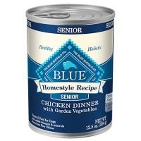 Blue Buffalo Blue Homestyle Recipe Senior Chicken Dinner with Garden Vegetables Wet Dog Food, 12.5 oz., Case of 12
