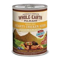 Whole Earth Farms Grain Free Hearty Chicken Stew Canned Dog Food, 12.7 oz., Case of 12