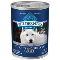 Blue Buffalo Blue Wilderness Senior Turkey & Chicken Grill Wet Dog Food, 12.5 oz., Case of 12