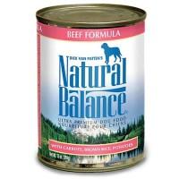 Natural Balance Ultra Premium Beef Formula Wet Dog Food, 13 oz., Case of 12