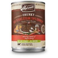 Merrick Chunky Grain Free Big Texas Steak Tips Dinner Wet Dog Food, 12.7 oz., Case of 12