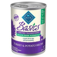 Blue Buffalo Blue Basics Grain-Free Turkey & Potato Recipe Wet Dog Food, 12.5 oz., Case of 12