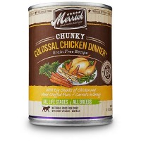 Merrick Chunky Grain Free Colossal Chicken Dinner Wet Dog Food, 12.7 oz., Case of 12