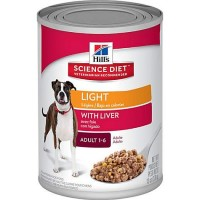 Hill's Science Diet Adult Light Savory Liver Entree Canned Wet Dog Food, 13 oz., Case of 12