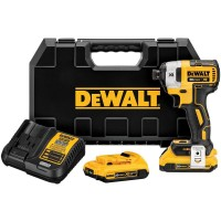 DEWALT 20-Volt MAX XR Lithium-Ion Cordless Brushless 1/4 in. 3-Speed Impact Driver with (2) Batteries 2Ah, Charger and Case