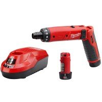 Milwaukee M4 4-Volt Lithium-Ion Cordless 1/4 in. Hex Screwdriver 2-Battery Kit