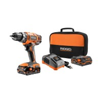 RIDGID 18-Volt Lithium-Ion Cordless 2-Speed 1/2 in. Compact Drill/Driver Kit with (2) 1.5 Ah Batteries, Charger, and Tool Bag