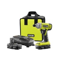 Ryobi 18-Volt ONE+ Lithium-Ion Cordless 1/4 in. Impact Driver Kit with (2) 1.3 Ah Batteries, Dual Chemistry Charger, Tool Bag