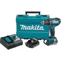 Makita 18-Volt LXT Lithium-Ion Cordless 1/2 in. XPT Drill/Driver Kit with Two 2.0 Ah Batteries Charger and Hard Case