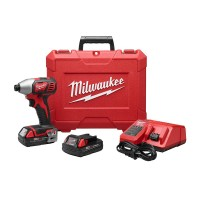 Milwaukee M18 18-Volt Lithium-Ion Cordless 1/4 in. Impact Driver Kit W/(2) 1.5Ah Batteries, Charger, Hard Case