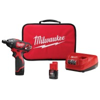 Milwaukee M12 12-Volt Lithium-Ion Cordless 1/4 in. Hex Screwdriver Kit with Two 1.5Ah Batteries, Charger and Tool Bag