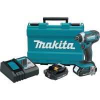 Makita 18-Volt LXT Lithium-Ion Cordless 1/4 in. Compact Impact Driver Kit with Two 2.0 Ah Batteries Rapid Charger and Hard Case