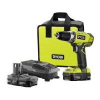 Ryobi 18-Volt ONE+ Lithium-Ion Cordless 1/2 in. Compact Drill/Driver Kit