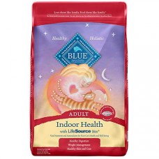 Blue Buffalo Blue Indoor Health Adult Salmon & Brown Rice Recipe Dry Cat Food, 15 lbs.