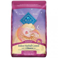 Blue Buffalo Blue Indoor Hairball Control Adult Chicken & Brown Rice Recipe Dry Cat Food, 15 lbs.